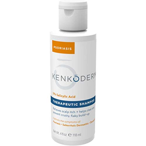 Kenkoderm Psoriasis 3% Salicylic Acid Therapeutic Shampoo - 4 oz Bottle (1 Bottle)