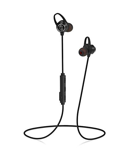 Trimo Bluetooth Headphones Premium High Fidelity Stereo Sound Wireless Sports Earphones Music Playing time 9 Hours IPX7 Waterproof Noise Cancellation 1 Hour Recharge Wireless Headphones – Black