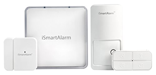 iSmartAlarm Home Security System for Apartment Renters with no Monthly fee, 7.20in. x 7.20in. x...