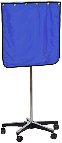 "X-Ray Mobile Shield - Porta-Shield Solid Panel, 5-Leg Star Base, 24""W x 24""H"