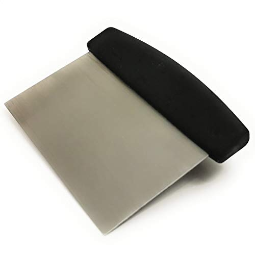 Kerafactum Teigschneider Teigschaber Teigspachtel Teig Spachtel mit Griff zur Teigbearbeitung Schaber für Teigabstecher Schlesinger aus Edelstahl 15 cm Bäckerspachtel mit ABS