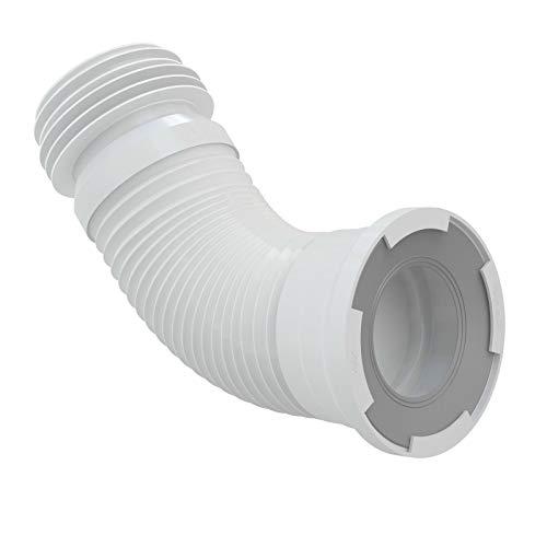 WC-Anschluß Abfluß weiß weiss WC-Abfluß Länge von 280 bis 550 flexibel TOP Abflussrohr