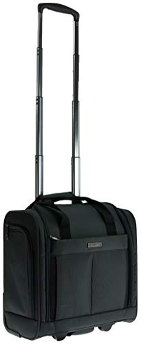 B-One ALPINI Valise Cabine Compact Vanity à roulettes Business King Size Vanity 22' (40cm) (Noir/Black) 40x20x39cm