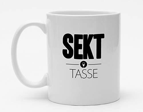 Lustige Tasse | Sekt Tasse | Funny Alkohol Becher | Kaffeetasse | Bedruckt mit Motiv | Tasse mit Spruch | Geschenk | Küche | Handmade