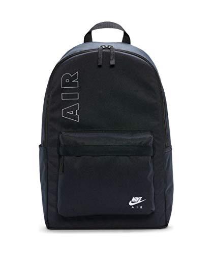 Nike Air Heritage 2.0 - Mochila, Negro y blanco., tamaño único
