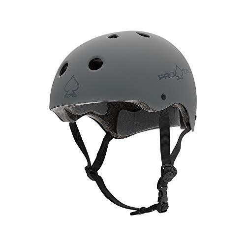 PRO-TEC(プロテック) CLASSIC CERTIFIED (クラシックサーティファイド) ヘルメット BMX&SKATE (S,マットグレー)