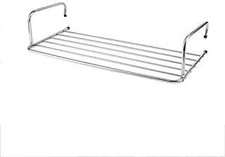 Barra de Toalla, toallero, Anillo de Toalla, Colgantes Tendedero Acero Inoxidable arropa Radiador Plegable del secador del lavadero Interior o Exterior Pista Barra Porta 80X37Cm