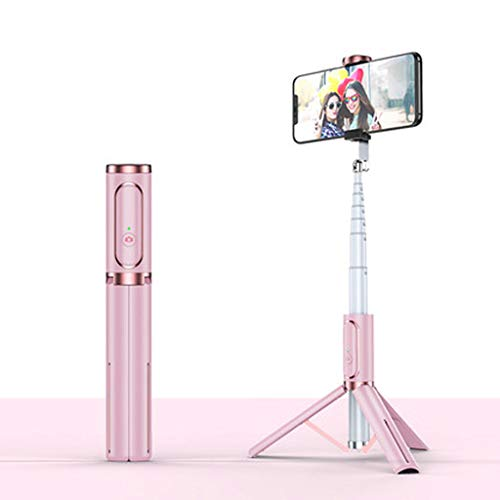 LLKK Soporte para Disparador automático,Soporte para teléfono móvil en Vivo,palito Selfie Triangular multifunción,trípode de Disparo Universal Integrado telescópico