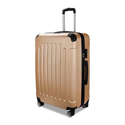 TolleTour Trolley Koffer mit Zahlenschloss ABS-Hartschale Alu-Teleskopgriff Hartschalenkoffer mit 4 360° Rollen