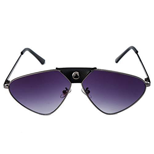 YIERJIU Gafas de Sol Gafas Espejo Steampunk Gafas de Sol Mujer Cat Eye Pilot Gafas de Sol Hombres Vintage Retro Gafas de Sol Gafas Steampunk Uv400 Gradient,S