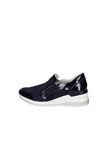 sneakers donna primavera 2020 Valleverde Scarpa Donna Camoscio 18201 Blu Una Calzatura Comoda Adatta per Tutte Le Occasioni. Primavera Estate 2020. EU 38