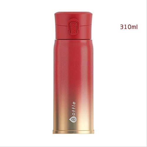 socoola Doppelwand Edelstahl Vakuumflaschen Thermos Tasse Tee Becher Thermo Flasche Thermocup 310ML B4