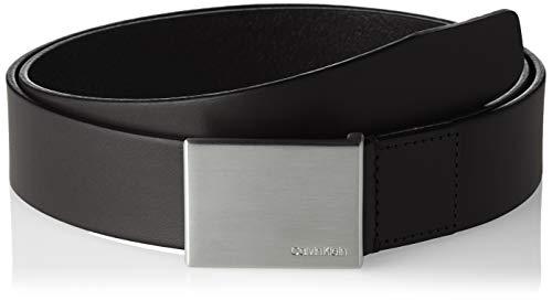 Calvin Klein Formal Plaque Belt 3.5cm Cinturón, Negro (Black 001), 85 para Hombre