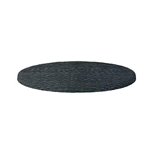 Werzalit Plus haut cl048 Table ronde, 700 mm, en rotin Anthracite