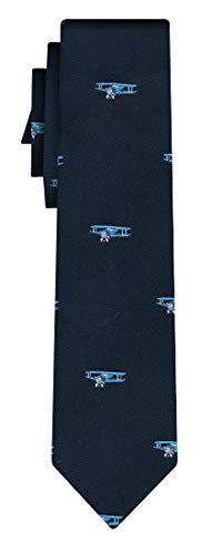 Desconocido corbata biplanes small on navy