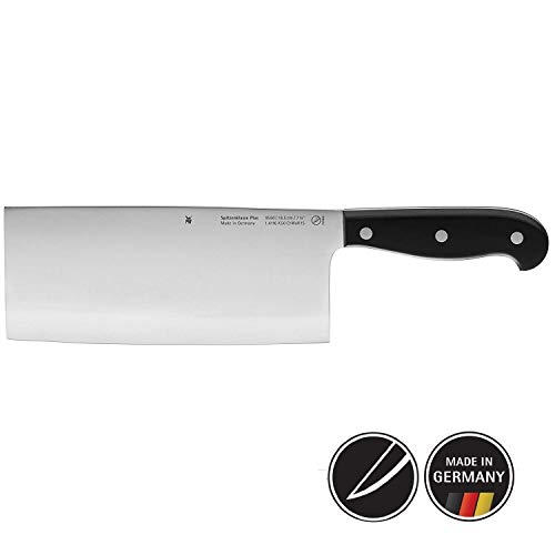 WMF Spitzenklasse Plus Chinesisches Kochmesser 31 cm, Spezialklingenstahl, Messer geschmiedet, Performance Cut, Kunststoff-Griff vernietet, Klinge 18,5 cm