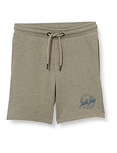 Jack & Jones JJI Shark JJSWEAT Short AT JR Pantalones Cortos de chándal, Oliva/Detalle: Melange, 140 para Niños