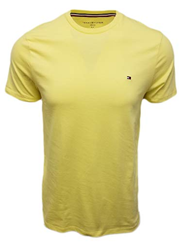 Tommy Hilfiger Wing Tip Crew Neck Short Sleeve Flag Logo T-Shirt, Yellow, XX-Large