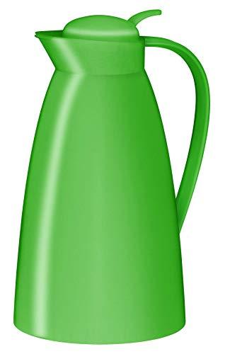 alfi Teekanne Eco, Thermoskanne Kunststoff grün 1l, mit alfiDur Glaseinsatz, 0825.282.100, Isolierkanne hält 12 Stunden heiß, ideal für Tee oder als Kaffeekanne, Kanne für 8 Tassen