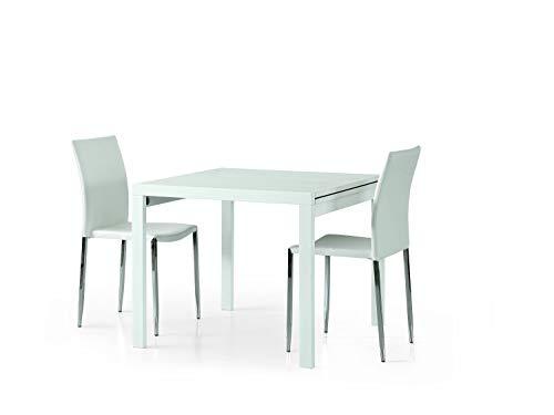 Fashion Commerce FC662 Tavolo, Legno, Bianco, 90x90x30 cm