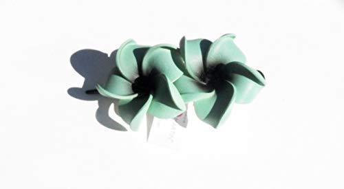 Dolly Martin - Frangipani Classic 2 Blüten Haarclip grün-schwarz