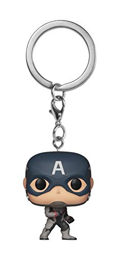 Funko- Portachiavi Pop: Avengers Endgame: Captain America Collectible Figure, Multicolore, 36678