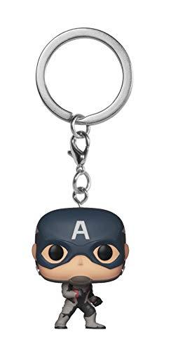Funko-Pocket Pop Keychain: Avengers Endgame: Captain America Collectible Figure, Multicolor, Estándar (36678)