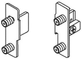 Blum ZSF.1610.04 METABOX - Soporte de fijación frontal estándar para cajón de presión derecha, níquel