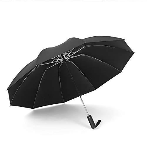 Mdsfe UV-Schutz Automatischer Reverse Umbrella Ten Bone Vinyl Umbrella Faltschirm Regenschrank Herren und Damen Dual-Use Double - b6
