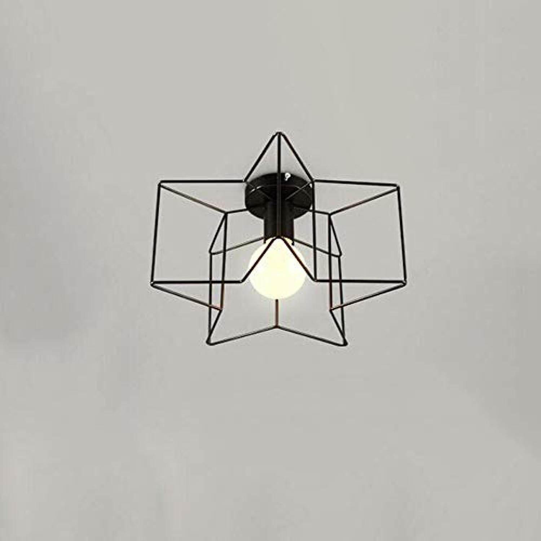 Fünfzackiger Stern moderne kreative Eingangsdeckenleuchte Wohnzimmer Balkon Flurbeleuchtung Ganglampen LED Deckenleuchte einfach zu installierendes Restauranteisen Leuchten Durchmesser  33 cm (Far