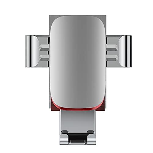 Tenedor de teléfono móvil de metal de automóvil, ángulo de visión completo de 360 °, adecuado para modelos Android de Apple de 4-6 pulgadas, se puede utilizar para salidas de aire acondicionado de a