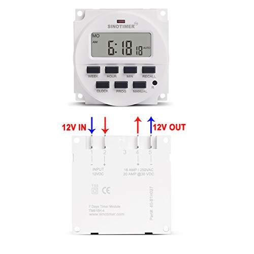 JHFF Programmierbares Zeitrelais - TM618H - 5V - 12V - 24V - 120V - 220V - Digital - Wochenprogrammschalter, Timer Schalter, Zeitschaltuhr