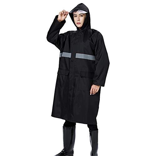Keliour Waterproof Portable Raincoat Hooded Sleeve Raincoat Adult Reusable Raincoat Hooded Raincoat (Color : Tibetan green, Size : 4XL)