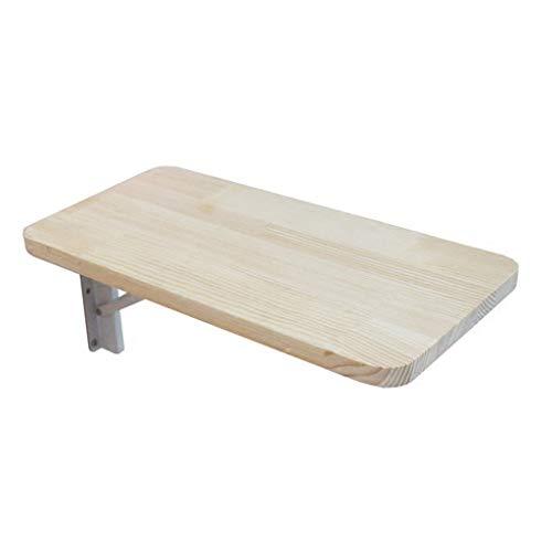 DNSJB - Mesa plegable para pared, mesa de comedor de madera maciza simple, mesa auxiliar para el hogar, dormitorio, tamaño opcional (tamaño: 60 x 30 cm)