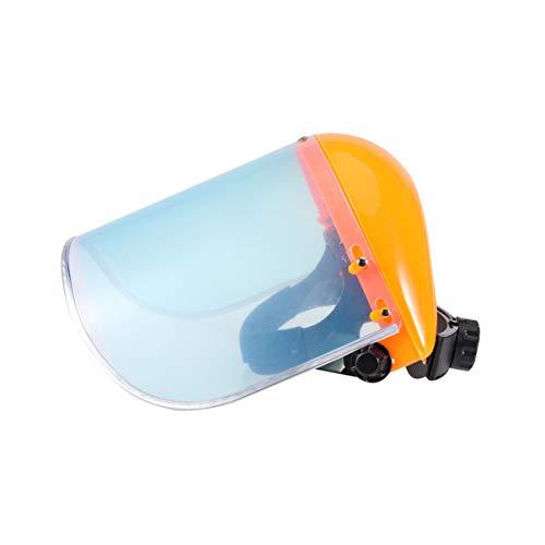 Vosarea Vosarea Gesichtsschutzschild Schutzhelm Gesichtsschutz Freischneider Maske für Trimmer und Freischneider (orange)