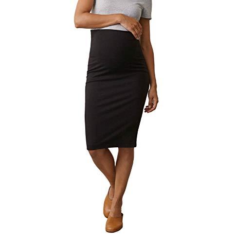 Boob Falda Premamá de Talle Alto para Embarazadas Falda de Maternidad Elegante y Casual (XL)