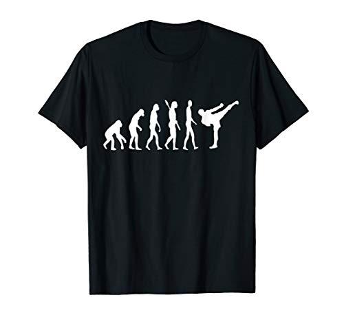 Kickboxen Evolution Kickboxer Entwicklung Taekwondo Kämpfer T-Shirt