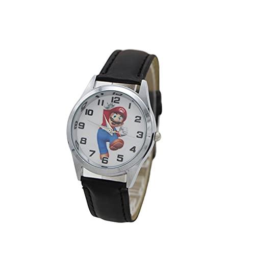 Reloj de dibujos animados nuevo lindo lindo lindo estilo Mario relojes de los niños de las mujeres estudiante niñas niños cuarzo metal acero reloj