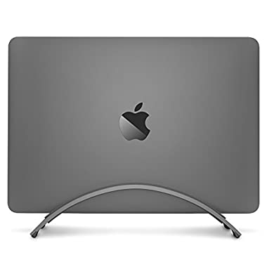 Twelve South BookArc for MacBook, space grey | Space-saving vertical desktop stand for Apple notebooks