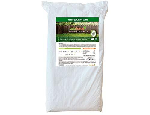 CULTIVERS Abono Ecológico Especial Césped de 25 Kg. Fertilizante de Origen Vegetal...