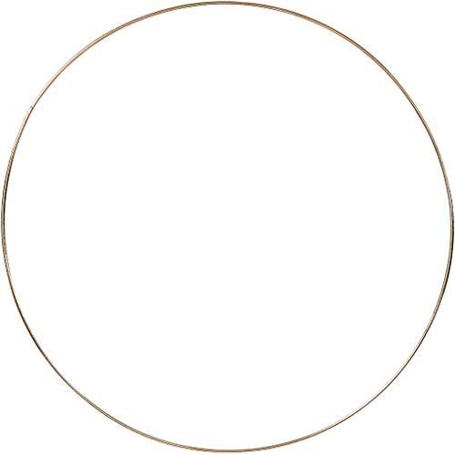 Metalen ring, d: 30 cm, dikte 3 mm, goud, 1stuk