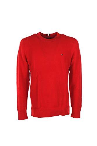 Tommy Hilfiger Herren Mouline RICECORN Sweater Sweatshirt, Rot (Haute Red Htr 650), X-Large (Herstellergröße:XL)