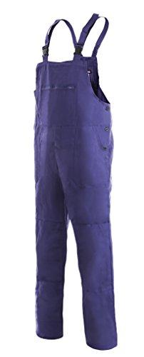 CXS Franta Arbeitslatzhose Herren 100% Baumwolle - Sehr Stabile Strapazierfähige Arbeitshose mit Hosenträger Gartenhose Bundhose Cargohose Arbeitsoveral (Blau, Größe 58)