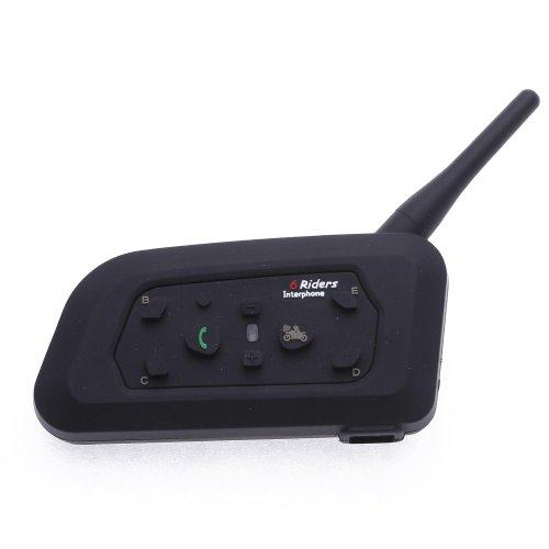 CARCHET 2 x Intercomunicador Bluetooth 1200M Teléfono Auriculares para Moto...