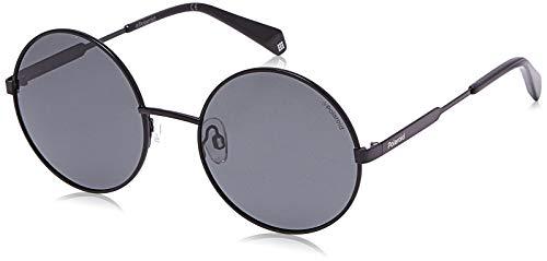 Polaroid Sonnenbrille PLD4052S-807M9-55 Rund Sonnenbrille 55, Schwarz