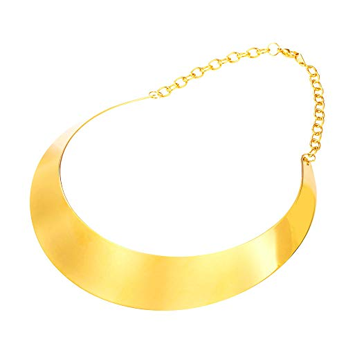 U7 Simple Style Women Torque Necklace 18k Gold Plated Choker Bib Necklaces Statement Jewelry