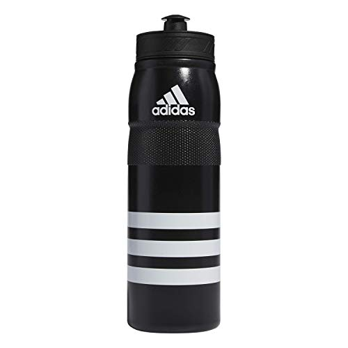adidas Stadium 750 ML (26oz) Plastic Water Bottle,Black/ White,ONE SIZE