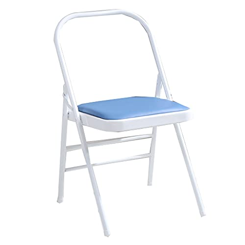 Sport Yoga Chair Iyengar Yoga Chair Sedia Ausiliaria Bold Rafforzamento Pieghevole Invertito Sedia Fitness Azienda Slip Stabile E Durevole Regalo Fitness (Blue, 46.5 * 78CM)