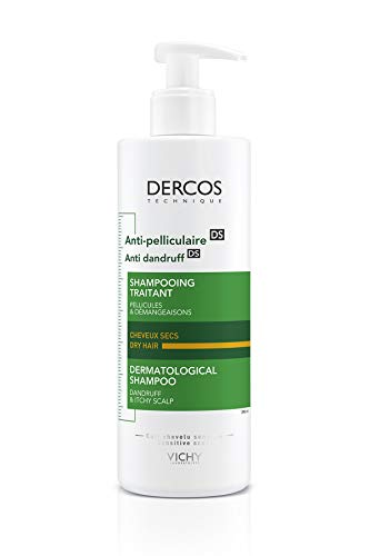 Dercos Champú Dermatológico Anticaspa para Cabello Seco - 390 ml