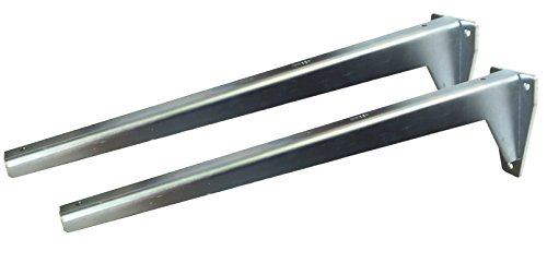 Sunload Regalbodenträger Schwerlastträger L-Profil Konsole Stahl verzinkt (2 x 480 mm)